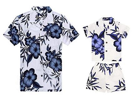 camisa hawaiana para niños barata