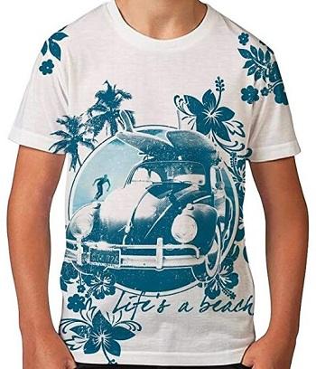 Camiseta hawaiana para niños