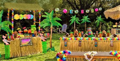 fiesta hawaiana decoracion