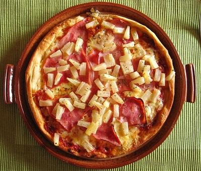 fiesta hawaiana comida pizza